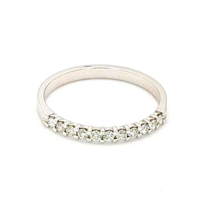 1/4ct Diamond Smart Eternity 11 Stone Ring Crafted In 14 Karat White Gold