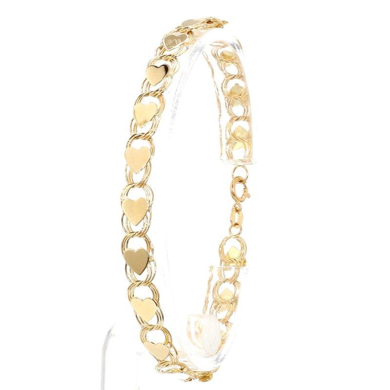 """Estate 7"""" Heart Charm Bracelet"""