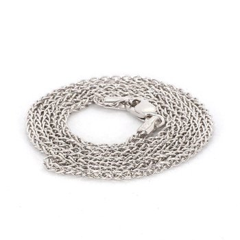 """.925 Sterling Silver 1.65MM Wheat Chain 16"""""""