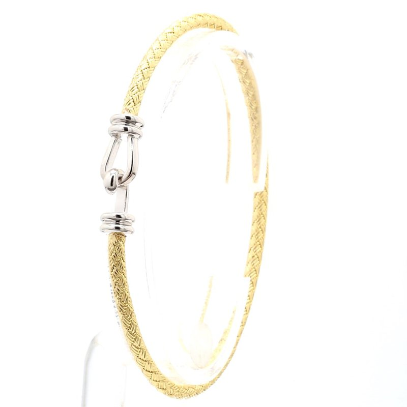 "Buckle Style Mesh Bangle Bracelet 6.75"" x  2.75mm"