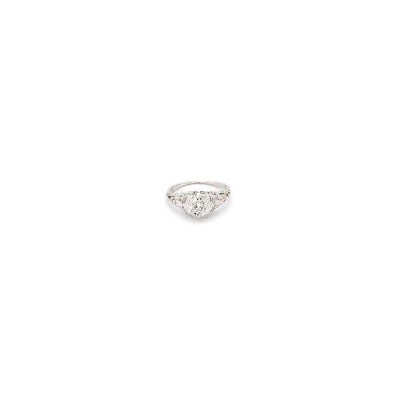 .21ct Antique Art Nouveau Diamond Engagement Ring