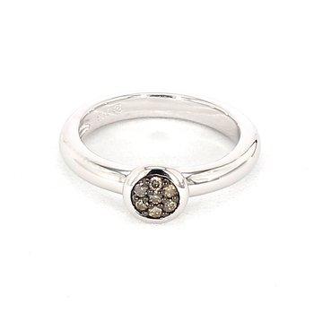.09 Carat Brown Diamond Ring
