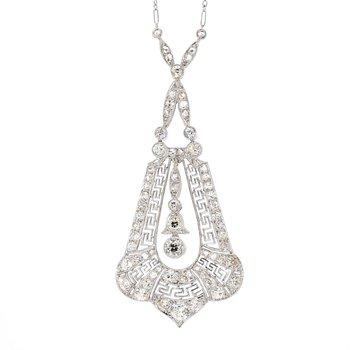 Platinum 2Ct Art Deco Necklace
