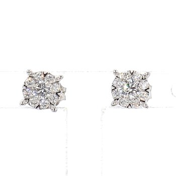 1/4ct Diamond Pavé Earrings