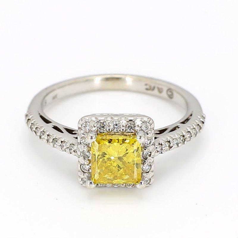 1.36 Carat Yellow Diamond Engagement Ring