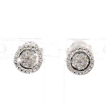 .05ct Diamond Halo Stud Earrings