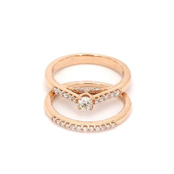 .50 Carat Diamond Rose Gold Engagement Ring