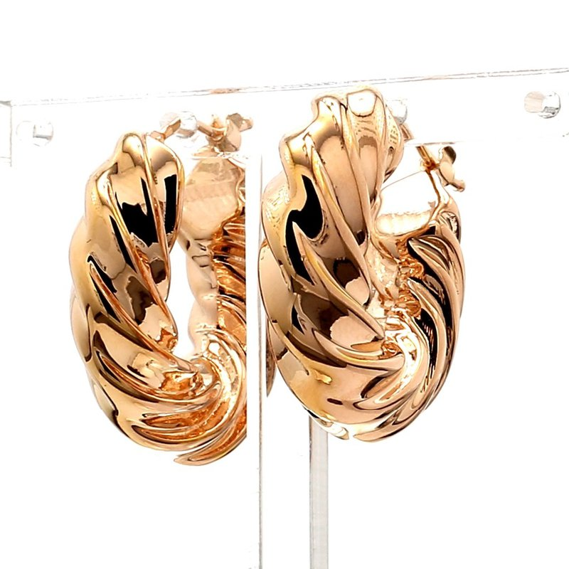14KT Rose Gold Hoop Earrings