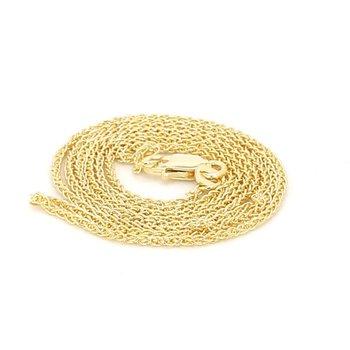 14 Karat Yellow Gold Wheat Chain
