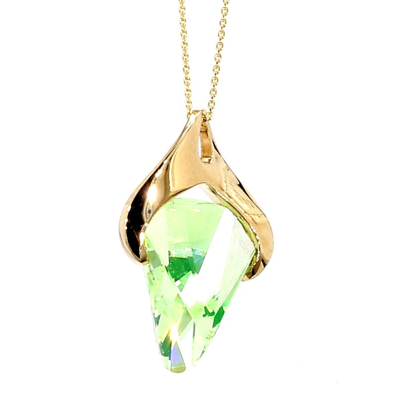5.0ct Synthetic Green Stone Pendant