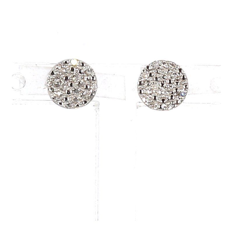.06ct. Diamond Disk Earrings