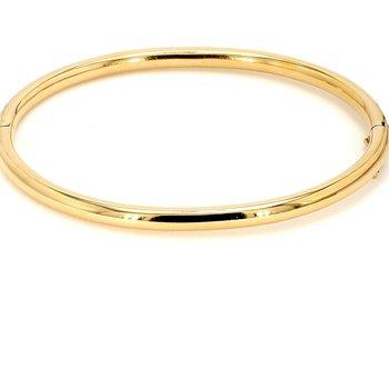 14KY Yellow Gold Rounded Bangle Bracelet