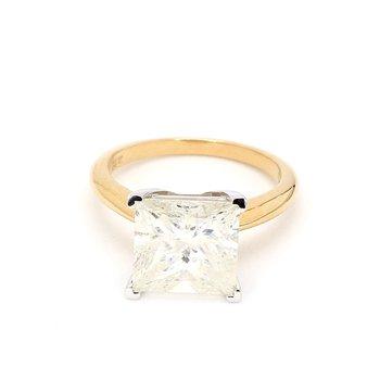 5 1/5ct Princess Cut Diamond Engagement Ring