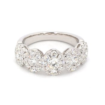 1 1/2ct Diamond Halo Anniversary And Wedding Ring