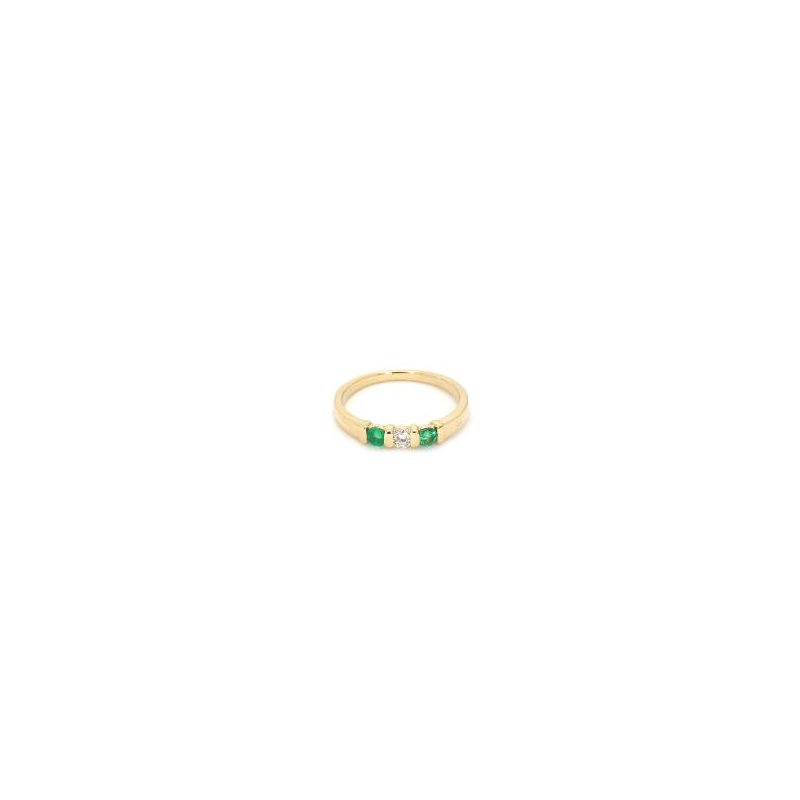 1/4ct Estate Emerald and Diamond Ring