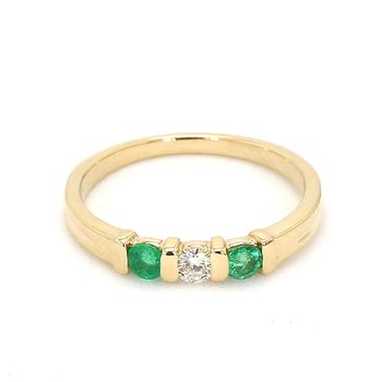 1/4ct Estate Emerald and Diamond Ring