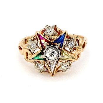 .25CT Diamond & Multi Gemstone Star Design Ring