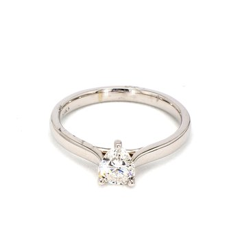 2/3ct Pear Shape Diamond Solitaire Engagement Ring