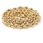 """14KT Yellow Gold Estate 7mm Rope Chain 18"""""""