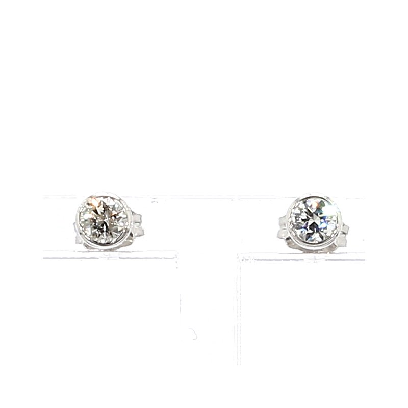 1/3ct Bezel Set Stud Earrings