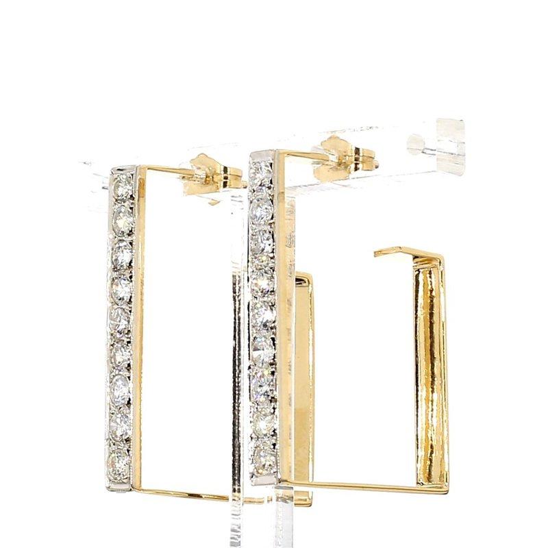 1 1/2ct Diamond Hoop Earrings