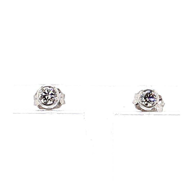 1/5ct Diamond Bezel Stud Earrings