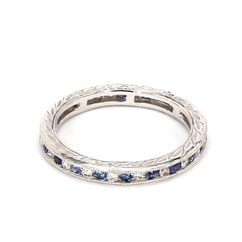 .50 Carat Sapphire And Diamond Eternity Band
