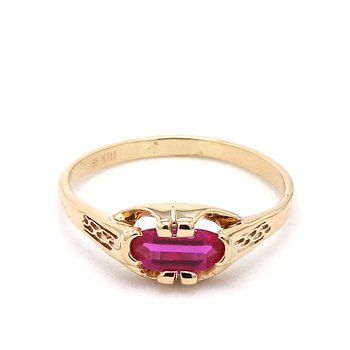 1 Carat Art Deco Ruby Ring