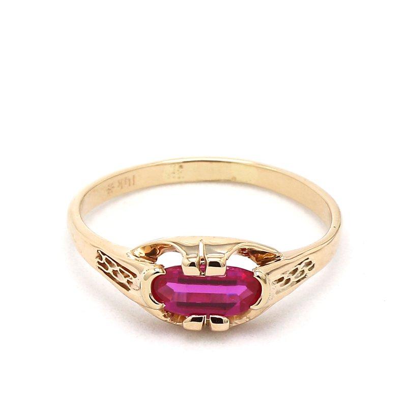 1 Carat Art Deco Ruby Ring
