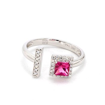 .53 Carat Pink Sapphire And Diamond Ring