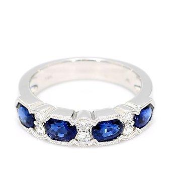 2ct Sapphire & Diamond Ring