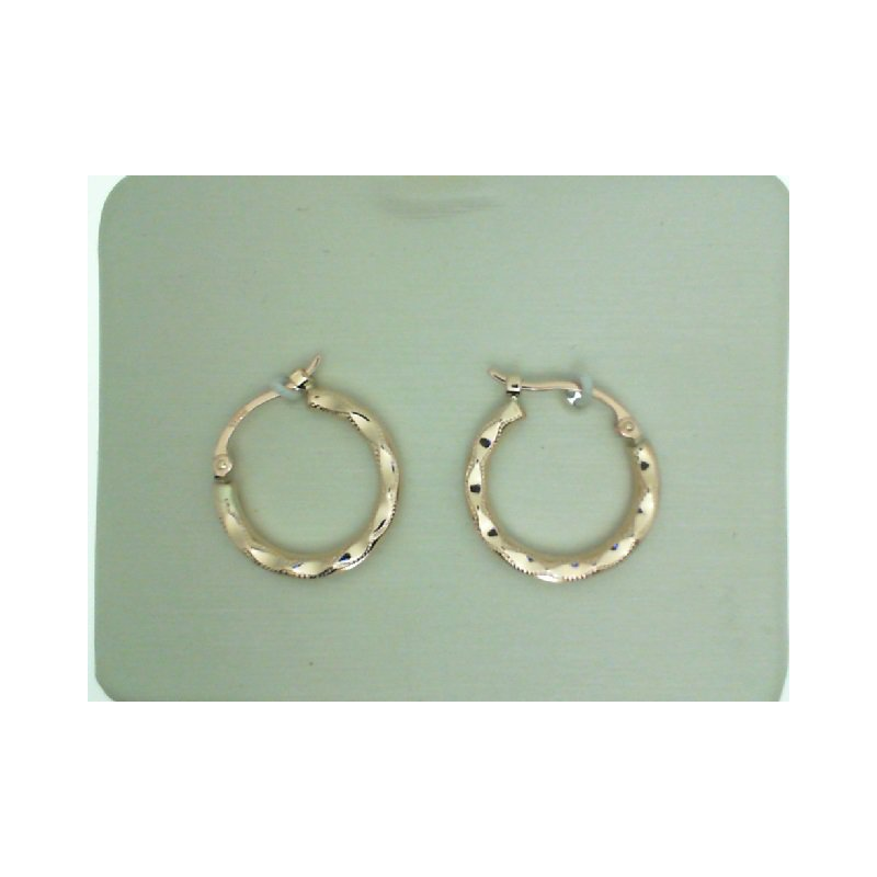 Rose Gold Fancy Shell Hoop Earrings