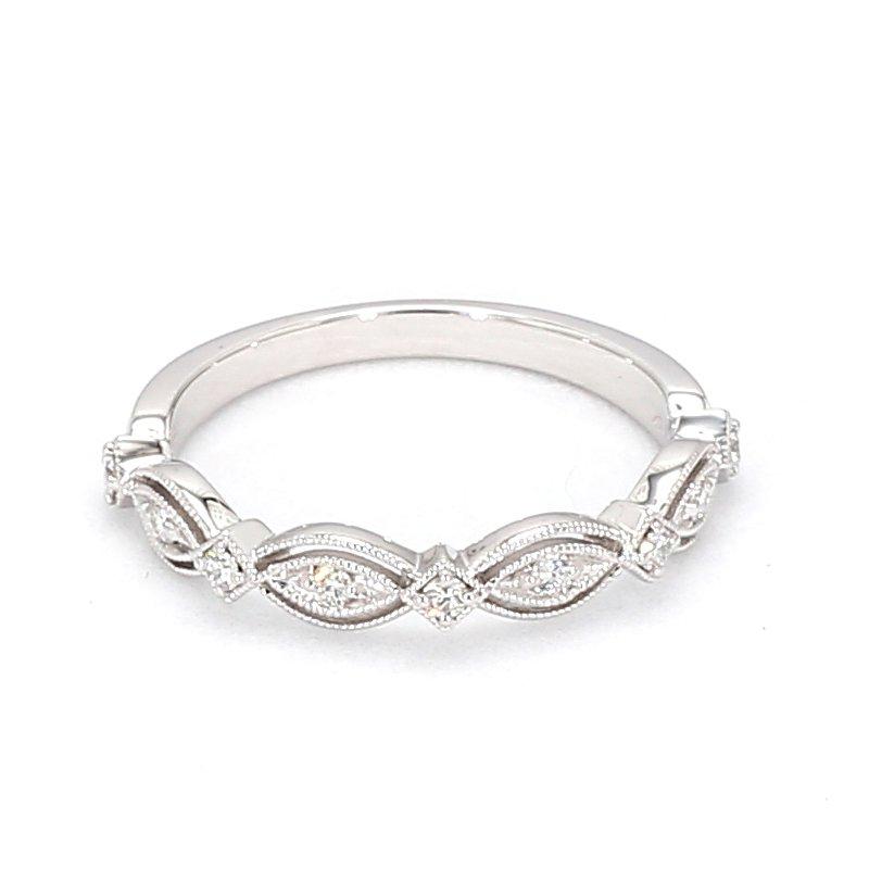 1/7ct Vintage Inspired Infinity Diamond Ring