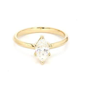 1.0ct Marquise Cut Diamond Petite Engagement Ring