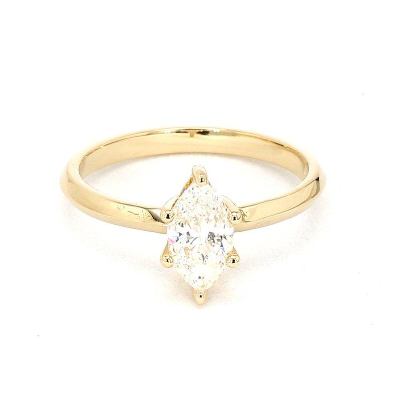 1.0ct Marquise Cut Diamond Petite Engagement Ring