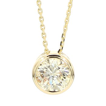 .81 Carat Diamond Bezel Pendant