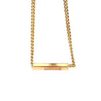 14KT Yellow Gold Geometric Station Necklace