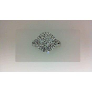 White Gold and Palladium Engagement Ring