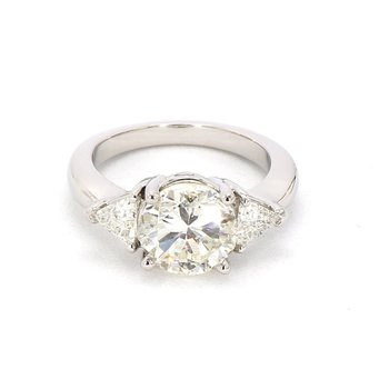 3 1/2ct Three Stone Diamond Ring