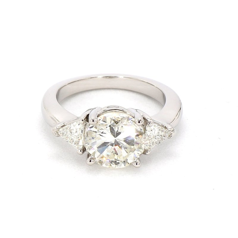 3 1/2ct Three Stone Diamond Ring