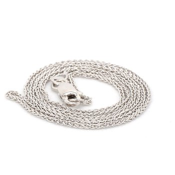 14 Karat White Gold Wheat Chain