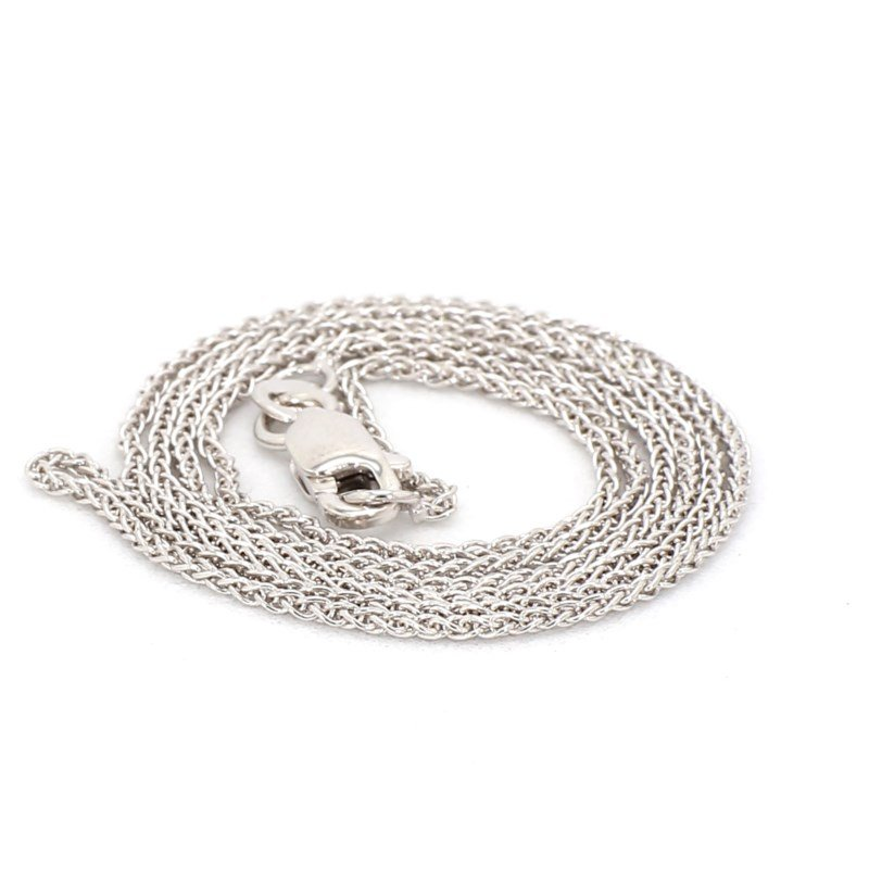 14 Karat White Gold Wheat Chain