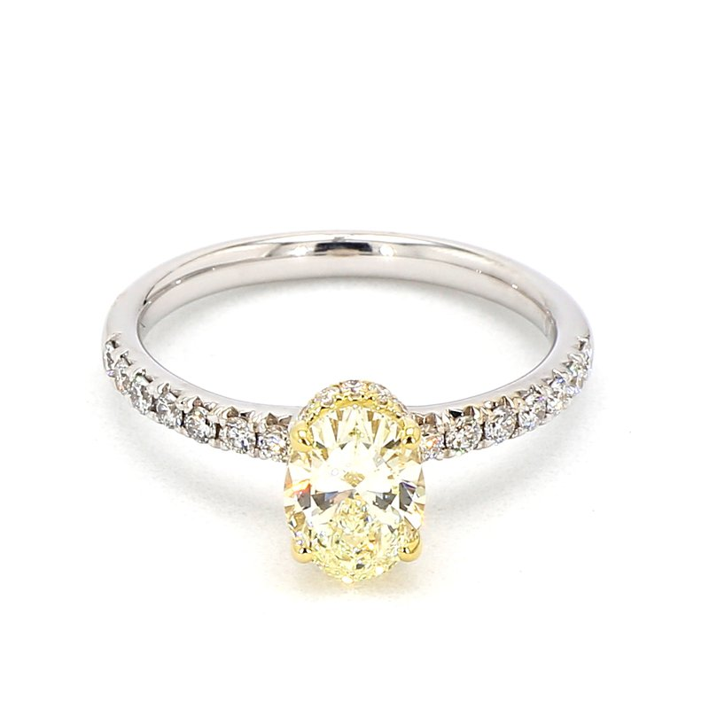 1 1/2ct Fancy Yellow Diamond Engagement Ring