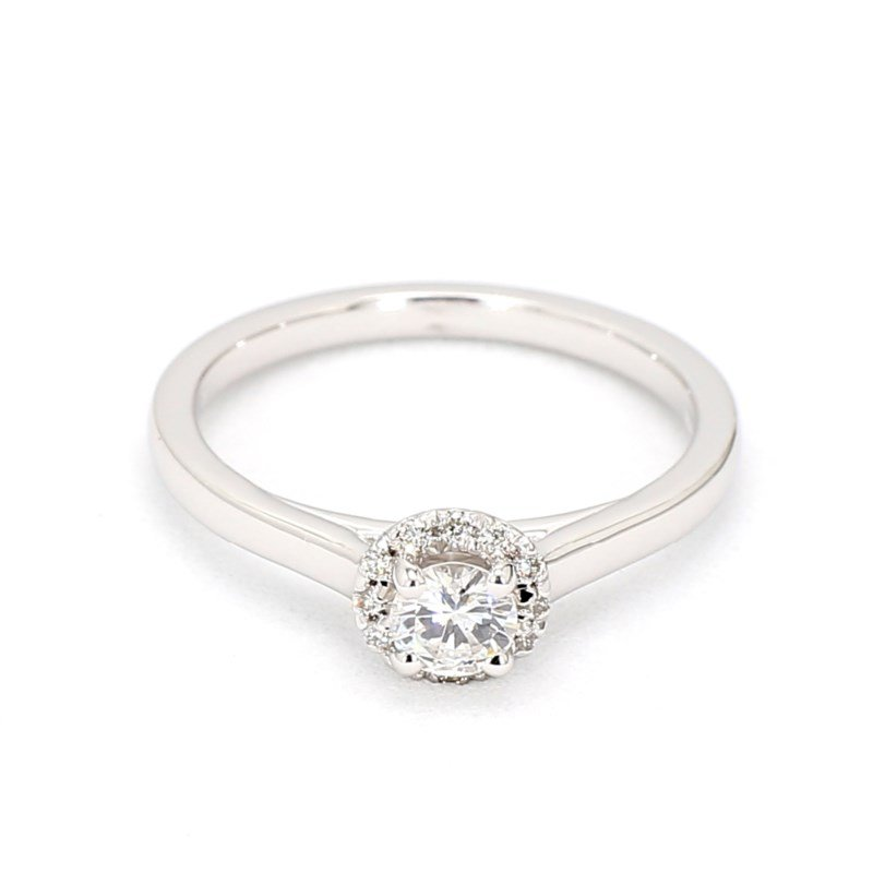 .32 Carat Diamond Halo Engagement Ring