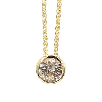 1/2ct Diamond Bezel Pendant