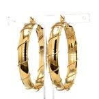 "14KT Yellow Gold 1.5"" Twisted Wire Hoop Earrings"