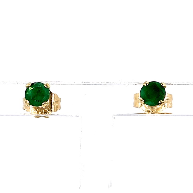 1.4ct Emerald Stud Earrings