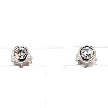 1/3ct Diamond Bezel Stud Earrings