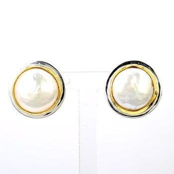 Sterling Silver & 22 Karat Gold Earring