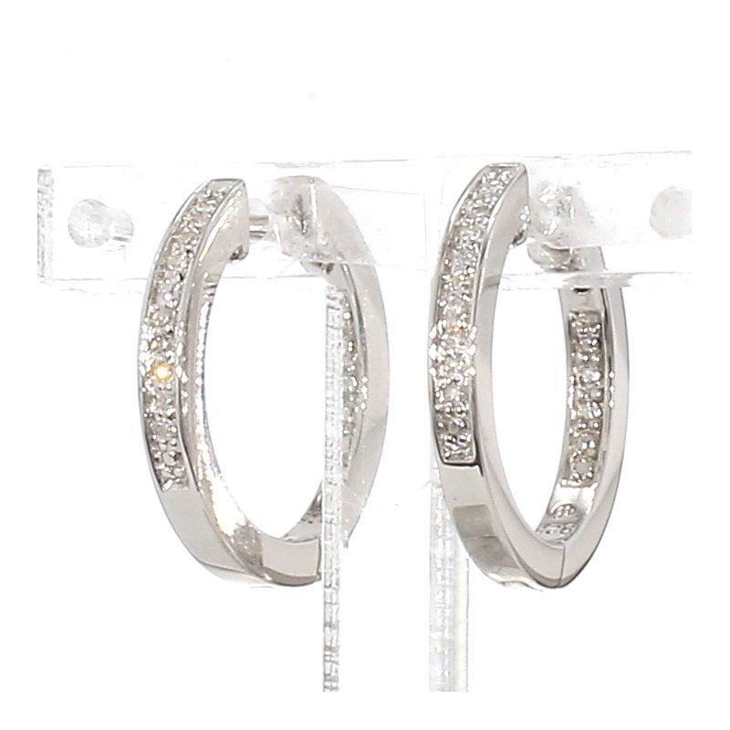 .07Ct. Diamond Hoop Earrings